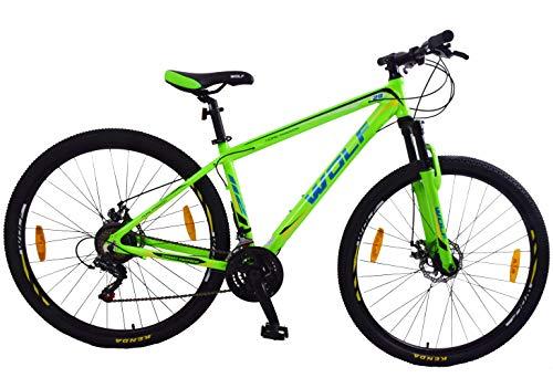 Wolf. Racer 29' (29er) Wheel Mountain Bike Disc Brakes Front Suspension 17'...