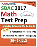 img - for SBAC Test Prep: 7th Grade Math Common Core Practice Book and Full-length Online Assessments: Smarter Balanced Study Guide With Performance Task (PT) and Computer Adaptive Testing (CAT) book / textbook / text book