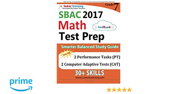 SBAC Test Prep: 7th Grade Math Common Core Practice Book and Full ...