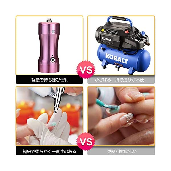 Airbrush-KitFy-Light-Single-Action-Cordless-Air-Brush-Gun-with-04MM-Needle-20CC-Cup-Rechargeable-Mini-Air-Compressor-for-Makeup-Hobby-Craft-Cake-Decorating-Tattoo