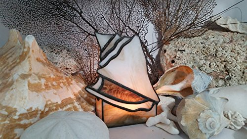 Handmade Stained Glass Conch Shell Candle TeaLight Candle holder Seashell Glass Art -