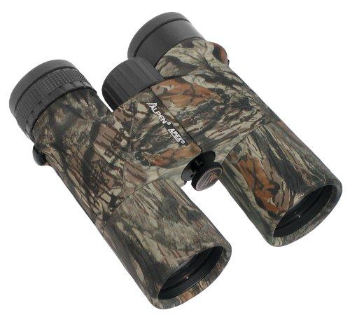 - Alpen Optics APEX XP 10X42 Waterproof, Fully Multi Coated, BaK4 Long Eye Relief Roof Prism Mossy Oak Camo Binocular