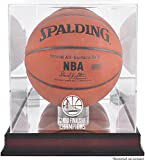Sports Memorabilia Golden State Warriors 2018 NBA Finals Champions Logo Mahogany Basketball Display Case with Mirrored Back