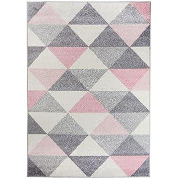 Amazon De Moderner Teppich Geometrische Muster Dreieck Mehrfarbig