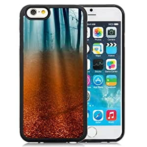 NEW Unique Custom Designed iPhone 6 4.7 Inch TPU Phone Case With Light Rays Forest Floor_Black Phone Case wangjiang maoyi