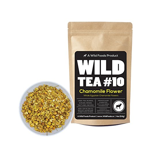 Herbal Chamomile Tea by Wild Foods, Organically Grown Egyptian Chamomile, Wild Tea #10 by Wild Food (8 (Organic Herbal Bath Bags)
