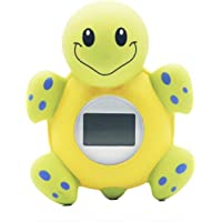 Lgking supply Bath Thermometer Clock Baby Shower Digital Thermometer Bathtub Toy Cartoon Turtle Shape with Fahrenheit…