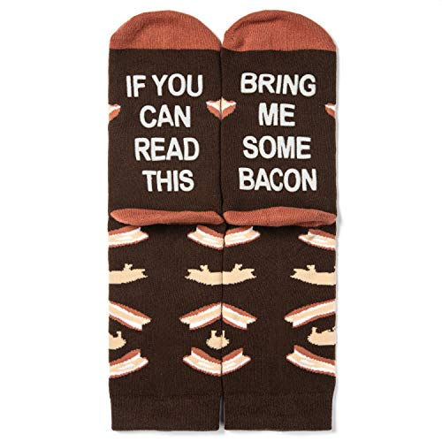 Lavley - Mens Novelty Socks - If You Can Read This Bring Me Some Bacon (Bacon)