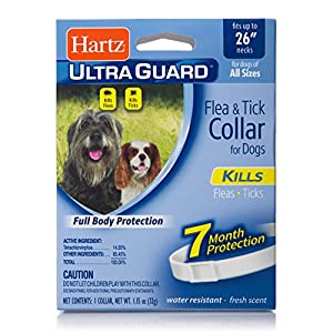 "Hartz UltraGuard Flea & Tick Collar for Dogs and Puppies - 26"" Neck, 7 Month Protection 16"