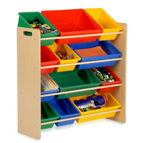 Honey Can Do SRT 01602 Kids Toy Organizer And Storage Bins Natural Primary