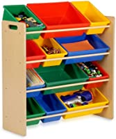 Save on Honey-Can-Do SRT-01602 Kids Toy Organizer and Storage Bins, Natural/Primary and more