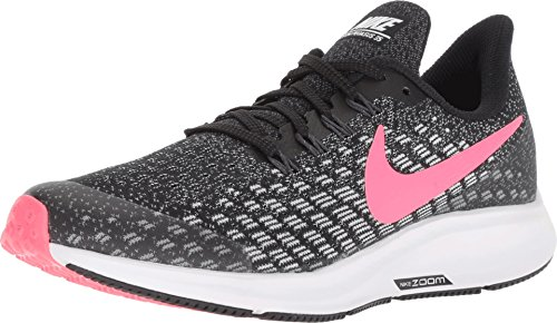 Nike Girl's Air Zoom Pegasus 35 Running Shoe Black/Racer Pink/White/Anthracite Size 2 M US 2 Zoom Air Shoes