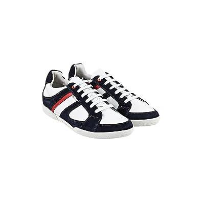 d804b0f766e311 Hilfiger Sneaker Uvp Herren Blau 42 Weiß Tommy Derby Gavin Schuhe XukiPZ