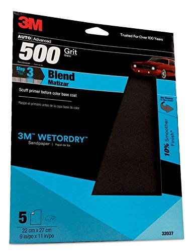 3M 32037 Imperial Wetordry 9'' x 11'' P500 Grit Sheet by 3M