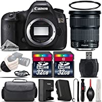 Canon EOS 5DS DSLR 50.6MP Full-Frame CMOS Camera + Canon 24-105mm IS STM Lens + 64GB Storage + Wrist Grip Strap + Case + UV Filter + Card Reader + Air Cleaner - International Version
