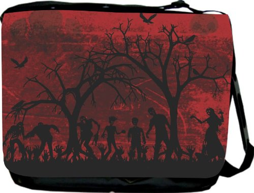 Silhouette Zombies Messenger-Laptop-Book Bag