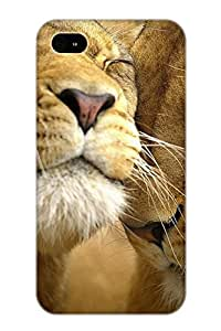 Premium Protection Amazing Lions Case Cover With Design For Iphone 4/4s- Retail Packaging