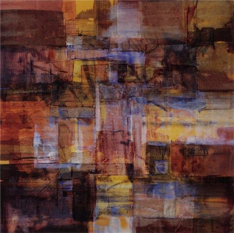 Oil Painting 'Contemporary Abstract', 18 x 18 inch / 46 x 46 cm , on High Definition HD canvas prints is for Gifts And Bath Room, Hallway And Study Room - Rome Rapper