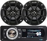 Aquatic AV Bundle of 2 Items AQ-MP-5UBT-HS Digital Media Receiver w Dock with Kicker 40PS42 4 PowerSports Series 2-Way Speakers