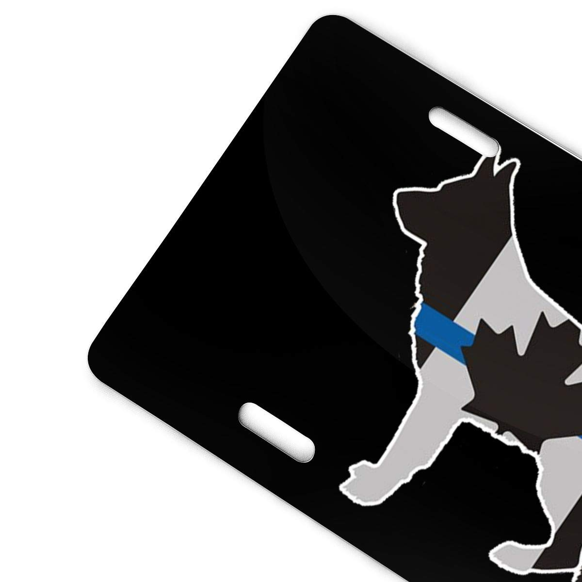 Thin Blue Line Canada Flag Police Dog Metal License Plate Vanity Car Plate 6 X 12