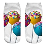 Cute Casual Cotton Socks 3D Candy Printing Womens