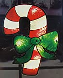 Impact 16'' Lighted Shimmering Candy Cane Christmas Window Silhouette Decoration