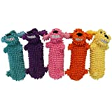 Multipet Loofa Water Bottle Buddy Dog Toy, 11-Inch , Colors may vary