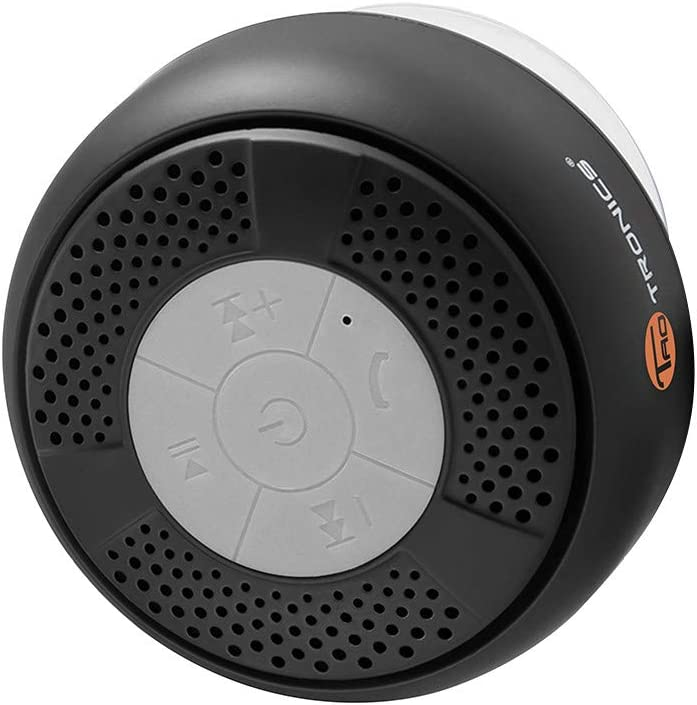 TaoTronics Bluetooth Shower Speaker, Water Resistant Portable Shower Speaker (Control Buttons)
