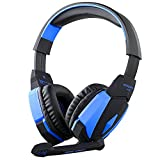 VersionTech Blue KOTION EACH G4000 LED Professional USB PC Gaming Game Stereo Noise Isolation Headset Headphone Earphones Headband with Volume Control Microphone HiFi Driver For Laptop Computer
