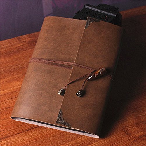SAIBANG Personal DIY Photo Album Handmade Retro Leather Albums Scrapbook Guestbook Leather Scrapbook Album