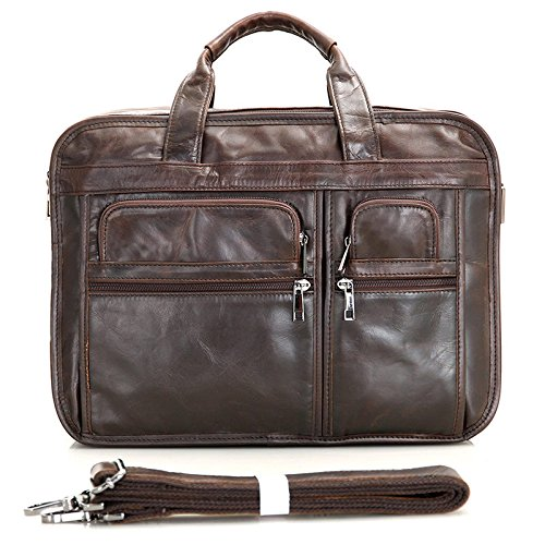 MUMUWU Men's Briefcase Leather Tote Bag Crossbody Bag Business Bag Leather Men's Bag Men's Briefcase Backpack (Color : Brown, Size : L) by MUMUWU (Image #9)