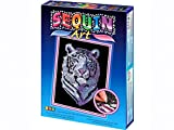 Sequin Art Blue, Snow Tiger, Sparkling Arts and Crafts Picture Kit; Creative Crafts for Adults and Kids