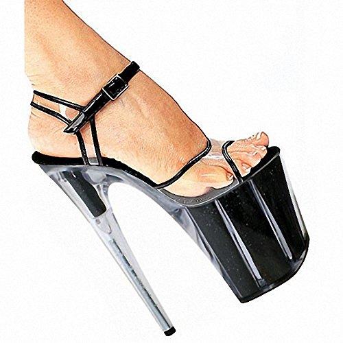 Neue gestreifte crystal Sandale 20 cm super - high high - - heels - f73d4b