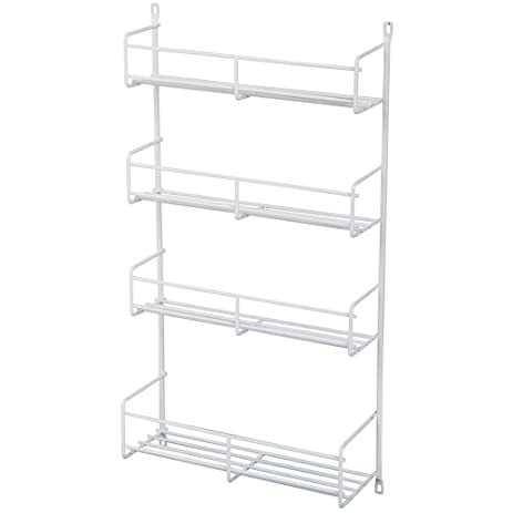 Amazon.com: Knape & Vogt SR18-1-W Door-Mounted Spice Rack Cabinet ...