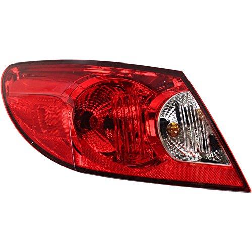 Tail Outer Light 08 (Evan-Fischer EVA15672037141 Tail Light for Chrysler Sebring 07-08 Outer Assembly Sedan Left Side)
