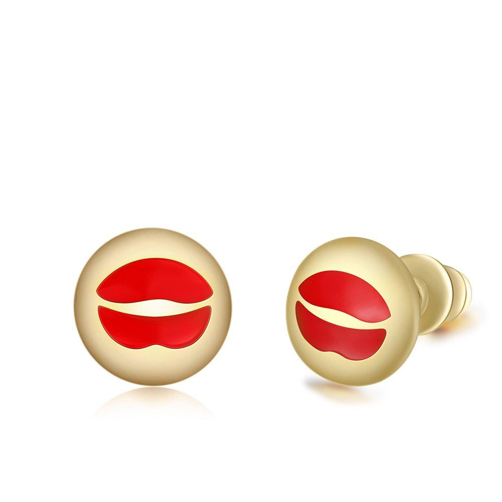 Emoticons Package Emoji Smile Cartoon Animal Earrings Gold Earrings Puppies Cats Earrings