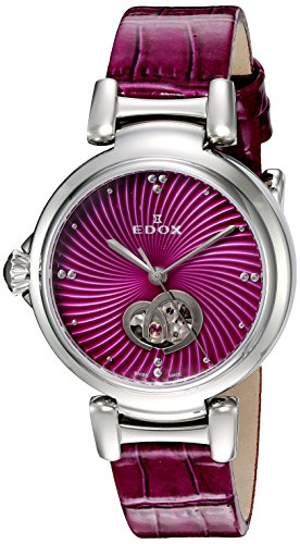 Edox-Womens-85025-3C-ROIN-LaPassion-Analog-Display-Swiss-Automatic-Pink-Watch