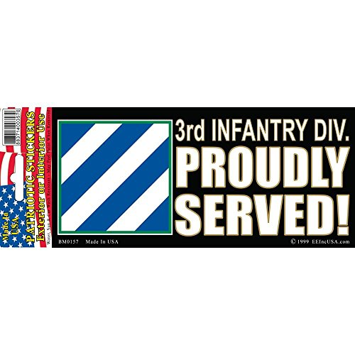 3rd Infantry Division Proudly Served Bumper Sticker - Proudly Bumper Division Sticker Served