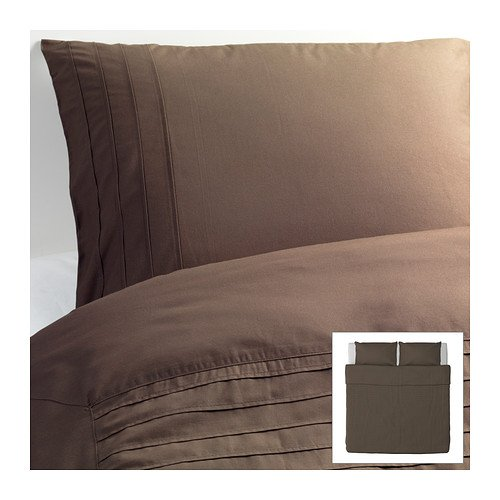 Ikea Alvine Stra Duvet Bed Cover Brown Twin