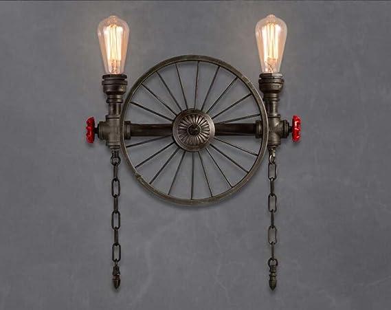 Applique da parete vintage loft lampada da parete tubo vento