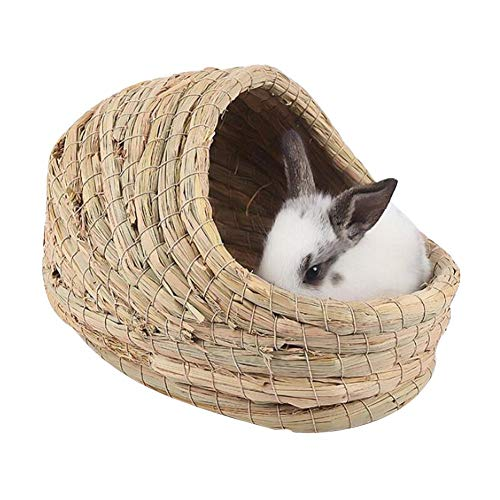 Seagrass Nesting - Lorchwise Pure Natural Grass Corn Skin Hand-Woven Rabbit Nest - Seagrass Toy - Slipper Nest
