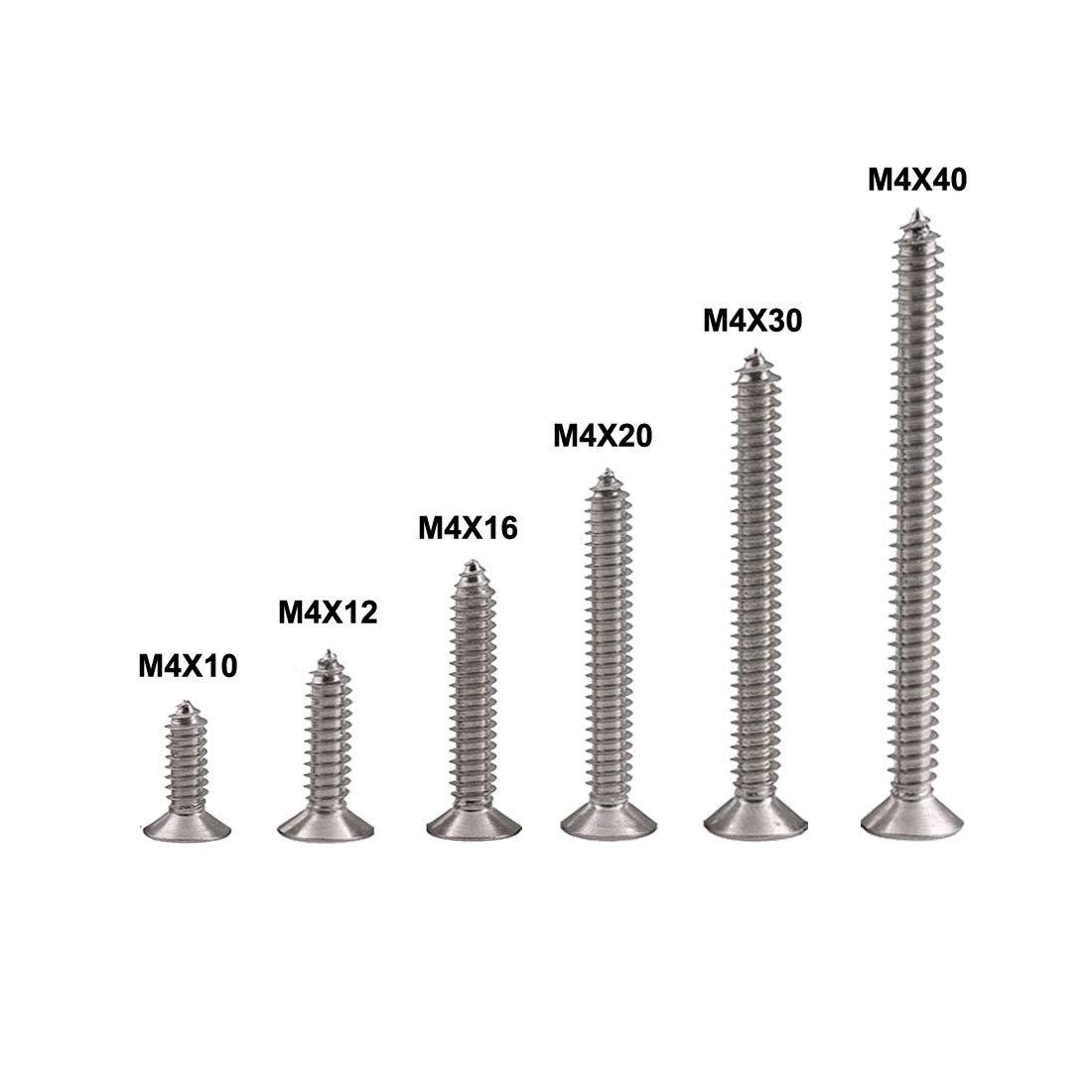 Tornillos autorroscantes Phillips de acero inoxidable para bricolaje Qrity M4