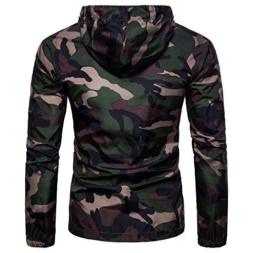 Hommes Blouson Softshell Capuche Respirant À Armée Militaire Été Verte Veste Camouflage De Zipper Protection Chemisier T Imprimer Mcys shirt Solaire Vêtements TqUaSX