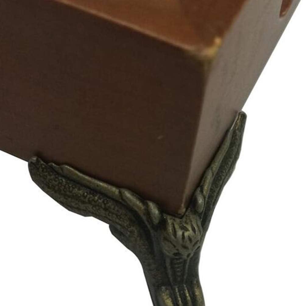 VOSAREA 8 Piezas Caja de Patas Antiguas Forma de Rosa pies de Metal Protectores de Esquina Caja de joyer/ía Vintage pies aleaci/ón de Zinc Caja de Cofre de Madera Patas de Bronce