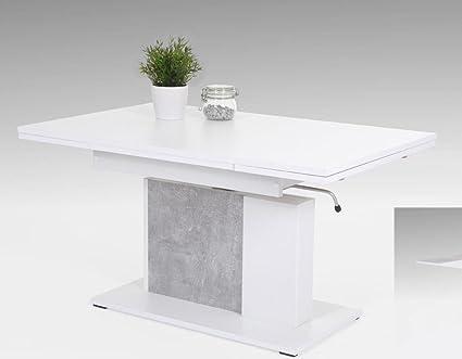 tisch höhenverstellbar ausziehbar weiß