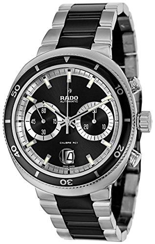 RADO D STAR 200 R15965152 GENTS BLACK CERAMIC STAINLESS STEEL CASE DATE WATCH