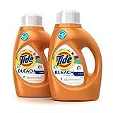 Tide Plus Bleach Alternative Original Scent High Efficiency Liquid Laundry Detergent, 46 Fl Oz (Pack of 2) (Packaging May Vary)