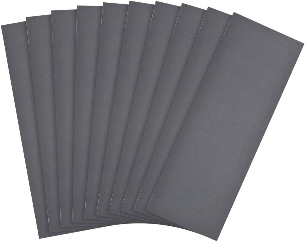 Wasserfestes Schleifpapier Nass Trocken Sandpapier K/örnung 2500 9x3,7 Zoll sourcing map 10 Stk