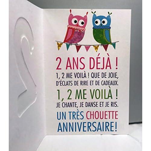 On Sale Age Mv 69 2002 Carte Joyeux Anniversaire 2 Ans Enfant Garcon