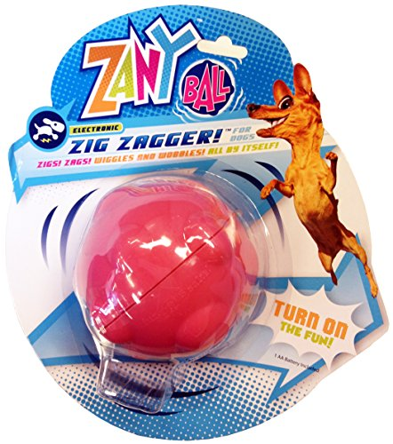 Zany Bunch Zany Ball – Wiggling, Jiggling, Electronic Dog Toy